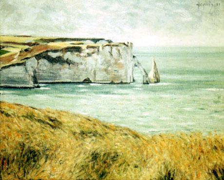 Les falaises d'Etretat sous le soleil - Etretat Cliffs in the Sun (Remi Acquin)