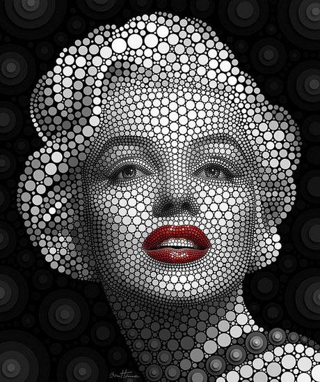 Retrato de Marilyn Monroe - Ben Heine
