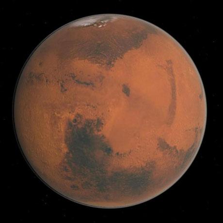 Der Rote Planet - Der Mars | Grafik: Celetia