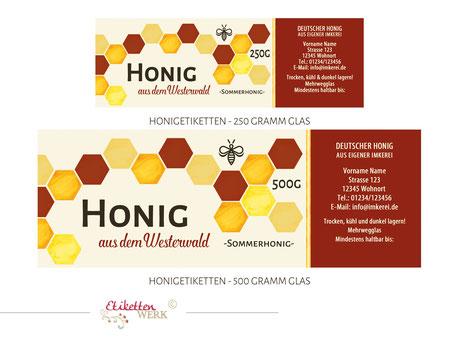 Honigetiketten, Design für Honig, Honigglasetiketten, Etiketten, Imker, Honiggläser Honig Labels honig etikett honigetikett honigglas label bienen imker bienenhonig honigglasetikett honiglabel honigetiketten