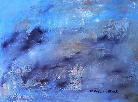 Acrylbild, acryl, blau , bild, malen, malerei, kunst, deko, dekoration, wandbild, abstrakt, art