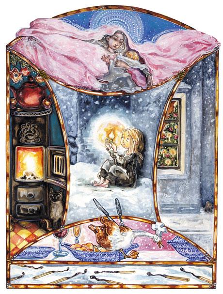 Märchenillustration Weihnachten Winterbild