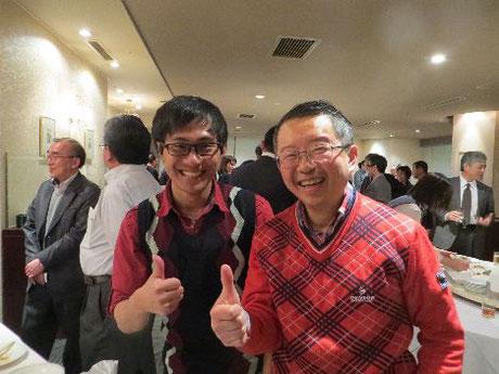 当エゾシカ倶楽部棚川代表とマレーシアからの留学生の写真