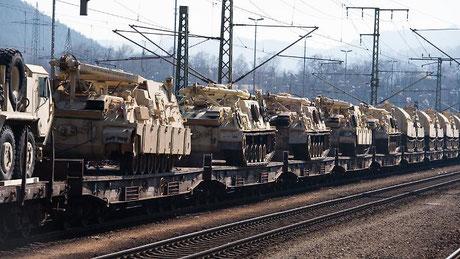 04.11.2019 - Berlin: Kundgebung SAg NEIN zu Atlantic Reslove. Nein zu US-Militärtransporte durch Deutschlland an Russlands Grenze