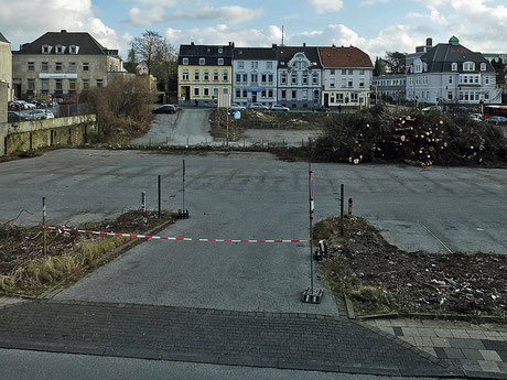 der ehemlg. Postparkplatz