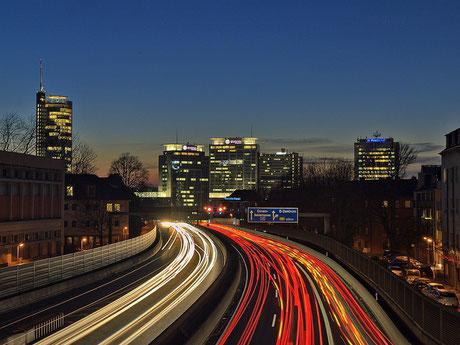 A40  Richtung City