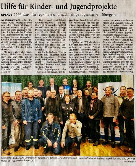 Wilhelmshavener Zeitung vom 13.02.2018