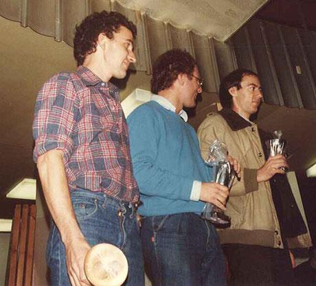 Podium F 1: (3) Gérard Caupène, (1) Samy Béraha, (2) Didier Moret