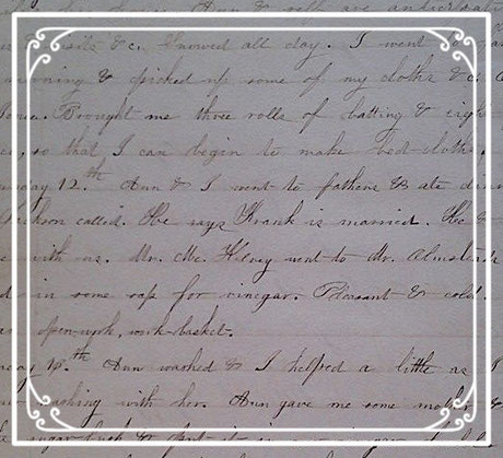 Image of a page from Rosette's journal
