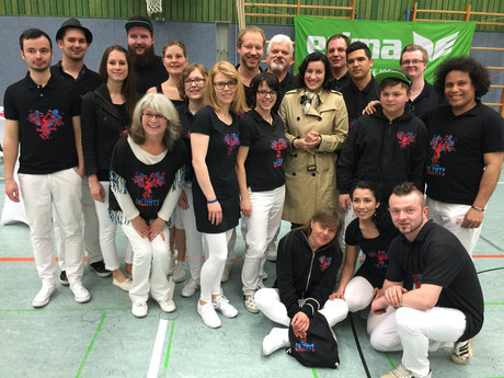 Bateria Caliente mit Dorothee Bär MdB VC Eltmann Volleyball 2016