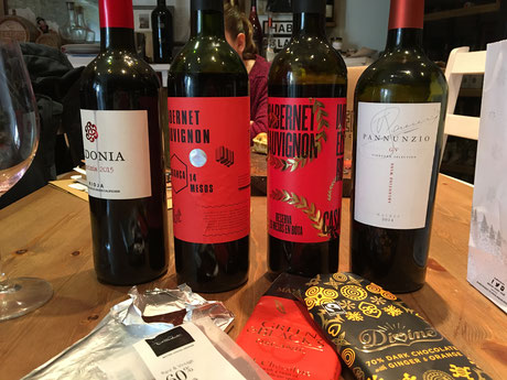 Port tasting, wine tasting, chocolate pairing