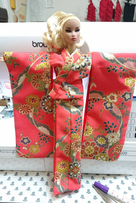 FR kimono,Fashion Royalty furisode,Integrity doll