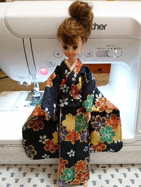 リカちゃん 着物,ジェニー 和服,momoko kimono
