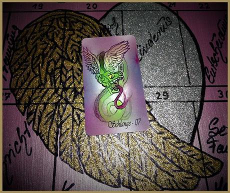 Lenormandkarte Schlange aus D.D.'s Engel Lenormand