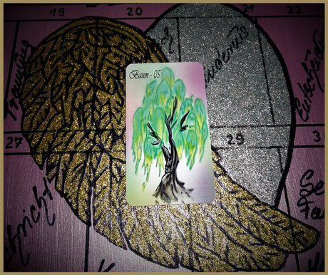 Lenormandkarte Baum Engel Lenormand