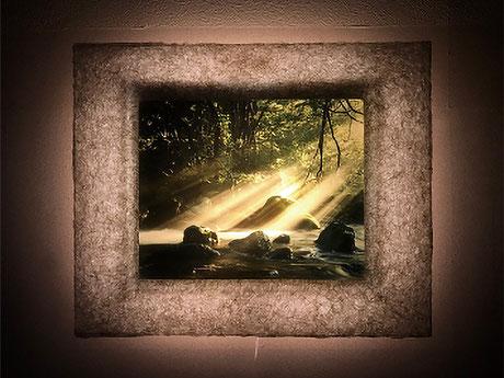 和紙独自の優しい灯りが空気感・臨場感を表現します