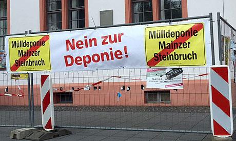 Unser Banner in Mainz