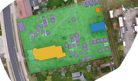 Digitalisierung einer Friedhofsfläche