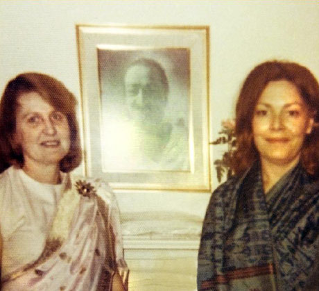 ( L - R ) Virginia with Ruth Rosen.  Courtesy of Gregg Rosen