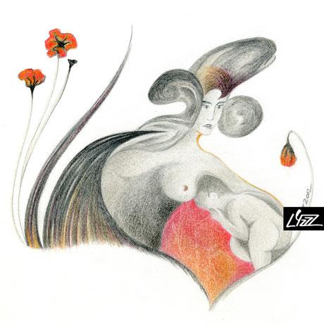 crayon de couleur - lysa mignot - 2012 - Lyzzz