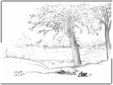 graphite - lysa mignot - 2014 - plage du Lot - Lyzzz