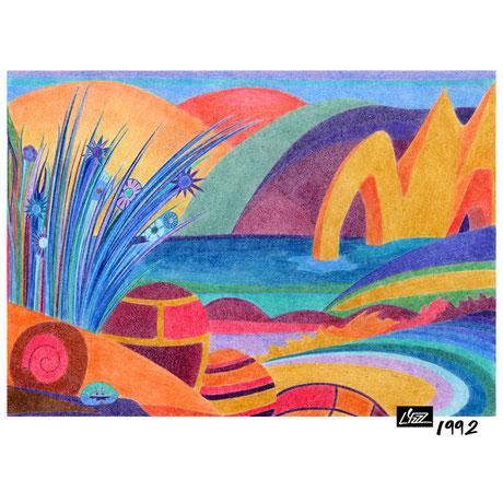 crayon de couleur - lysa mignot - 1992 - Lyzzz