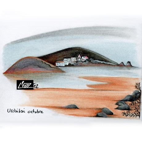 pastel sec - lysa mignot - 2012 - Urdaibai - Lyzzz