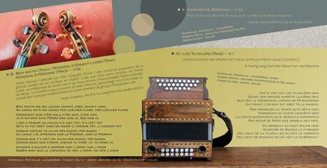 CD TRES DE GARONA - Robert Matta - Didier Oliver - Emmanuel Pariselle - livret 12 pages