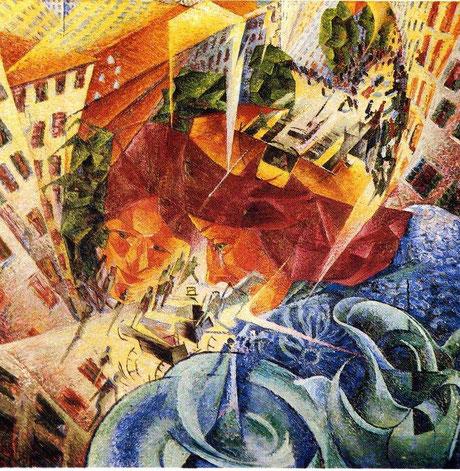 """Umberto Boccioni, """"Visioni simultanee"""" (1912)"""
