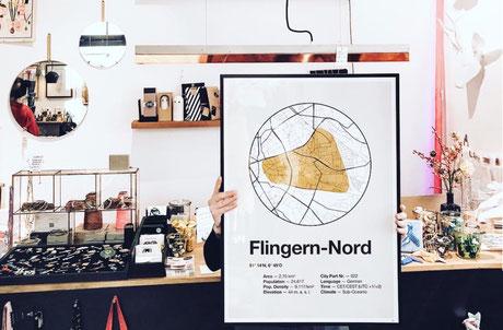 Dorfdruck Poster Düsseldorf