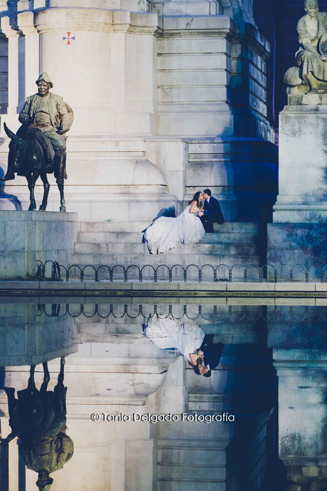 postboda, gran via, madrid, ciudad, post boda, plaza de españa