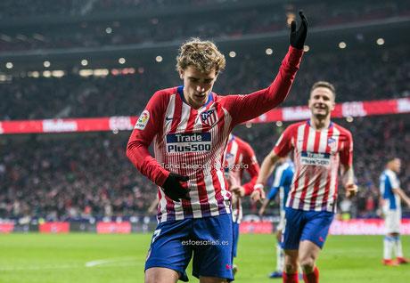 Diego Godín, gol, celebración, remontada, athletic Bilbao, La Liga Santander