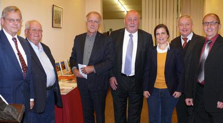 Der Vorstand der MIT Hohenlohe mit der Referentin Dr. Ines Eben von Racknitz