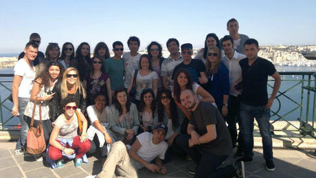 50 people in Malta (this is only part of the group) Spring 2013