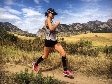 Zwangere Adrienne Herzog loopt nog elke week honderdtwintig kilometer