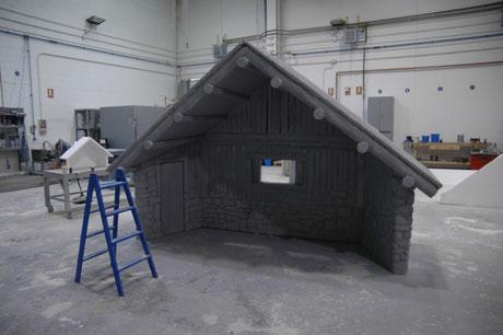 cabaña de belén talla en poliespan