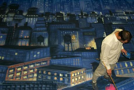 Pintura Escenográfica, telón de fondo para Gala de Premios Goya