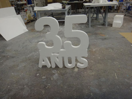 Número 35, Combinación de cifras y texto, aniversario, cumpleaños