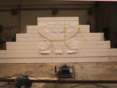 Relieve de leones Babilónicos, escalinata, teatro.