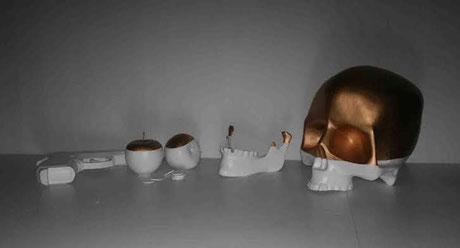 Cráneo para Ana Locking - Pasarela Cibeles