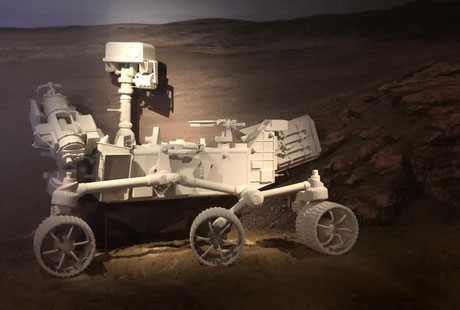 Decoracion para exposición sobre Marte, Museo de Ciencia y Tecnología, Madrid Alcobendas.