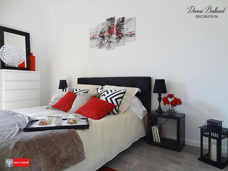 Décoration appartement témoin VEFA chambre promoteur