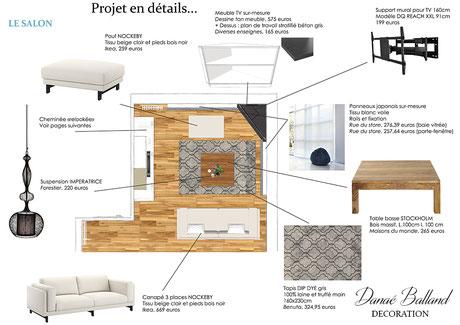 Décoration séjour plan Danaé Balland