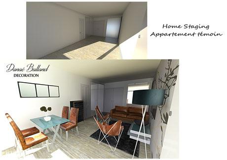 Danaé Balland décoration home staging appartement témoin