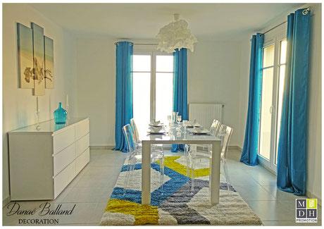 Appartement témoin décoré décoration maison séjour