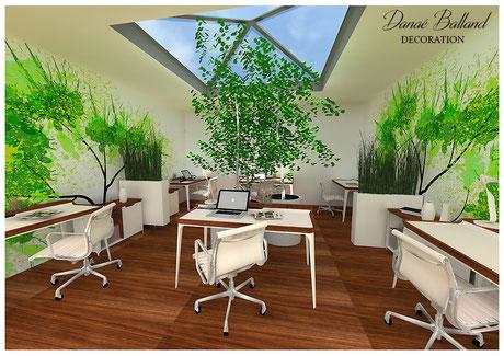 Décoration bureaux entreprise Danaé Balland