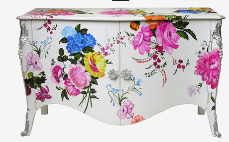 Commode fleurie Moissonnier