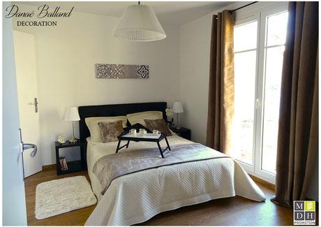 Décoration maison témoin chambre Danaé Balland