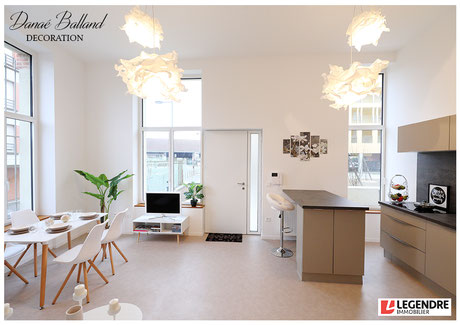 Appartement témoin décoré décoration maison salon scandinave