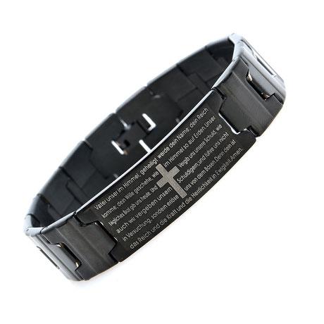 Christlicher-Schmuck-und-Geschenke-Halleluja-Styles-Armband-Vaterunser-schwarz